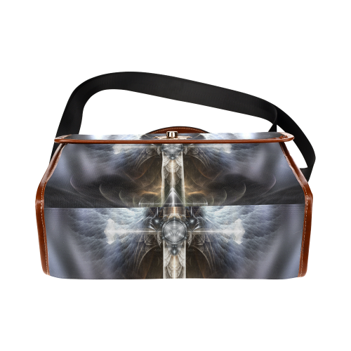 Heavenly Angel Wings Cross Waterproof Canvas Bag/All Over Print (Model 1641)