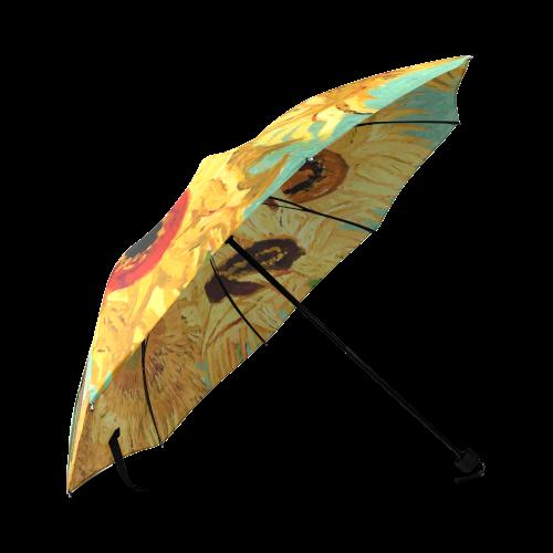 Van Gogh Sunflowers Floral Foldable Umbrella (Model U01)