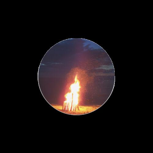 Beach Bonfire Blazing Round Coaster