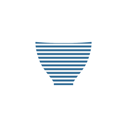 Bikini, Blue & White Stripes Custom Bikini Swimsuit