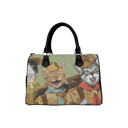 Three Cat Scouts Boston Handbag Boston Handbag (Model 1621)