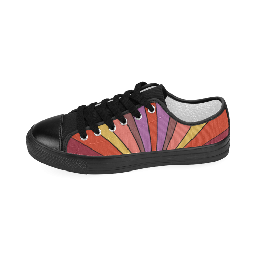Sunset - Vibrant Shades of Orange & Yellow Women's Classic Canvas Shoes (Model 018)