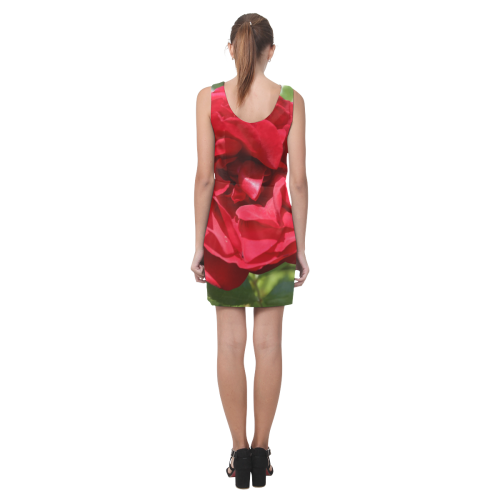 Red Rose Helen Sleeveless Dress (Model D10)
