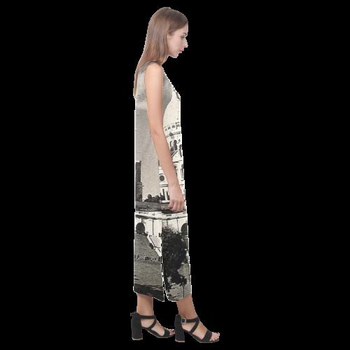 Vintage Sacre Coeur Phaedra Sleeveless Open Fork Long Dress (Model D08)