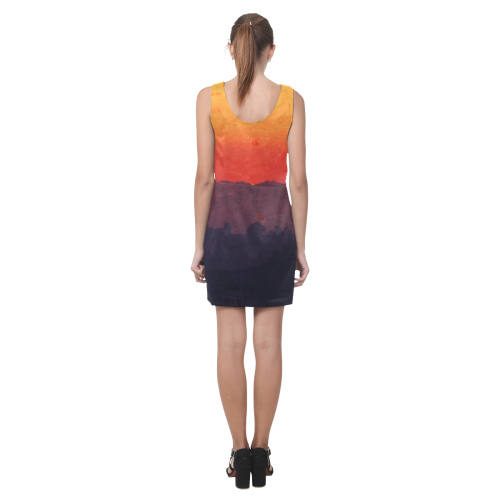 Five Shades of Sunset Helen Sleeveless Dress (Model D10)