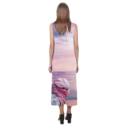 Galah Cockatoo Phaedra Sleeveless Open Fork Long Dress (Model D08)