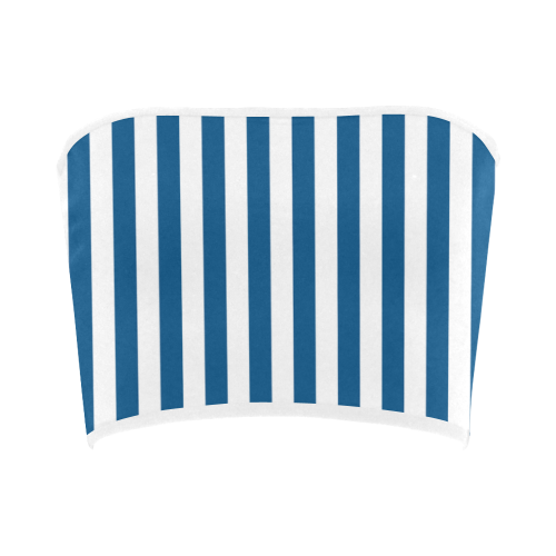 Bandeau Top, Blue & White Stripes Bandeau Top
