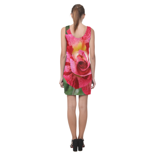 Pink Rose Helen Sleeveless Dress (Model D10)