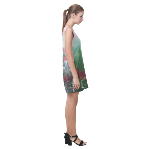 NYC Algeria Panorama Helen Sleeveless Dress (Model D10)