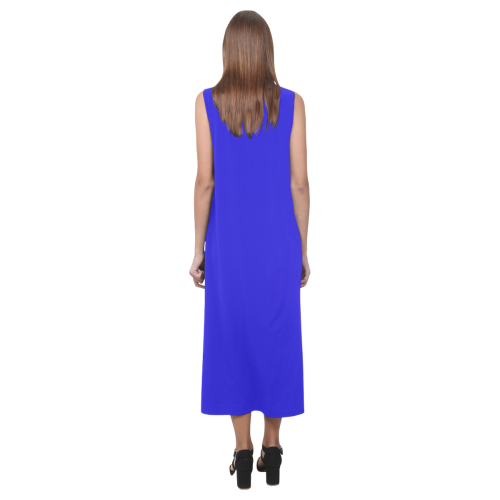 Blessed Mother Blue Phaedra Sleeveless Open Fork Long Dress (Model D08)