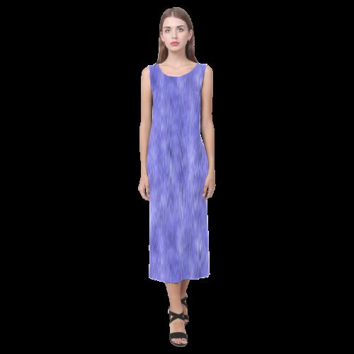 Blue Purple and Lavender Ombre Phaedra Sleeveless Open Fork Long Dress (Model D08)