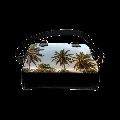 Chilling Tropical Palm Trees Blue Sky Scene Shoulder Handbag (Model 1634)