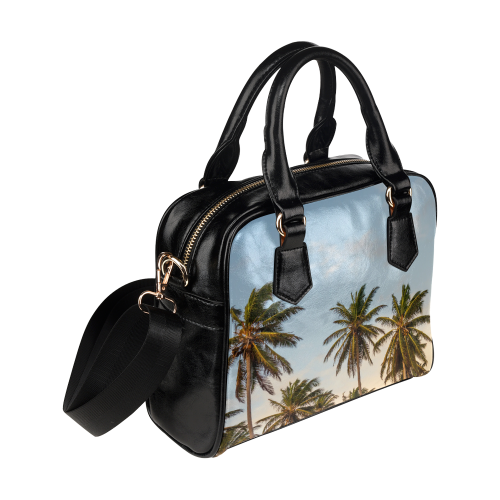 Chilling Tropical Palm Trees Blue Sky Scene Shoulder Handbag (Model 1634)