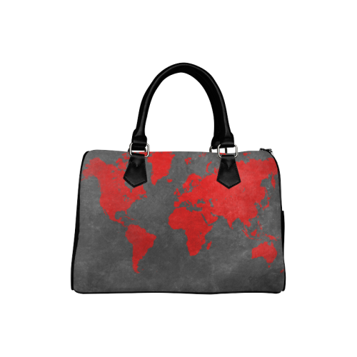 world map 24 Boston Handbag (Model 1621)