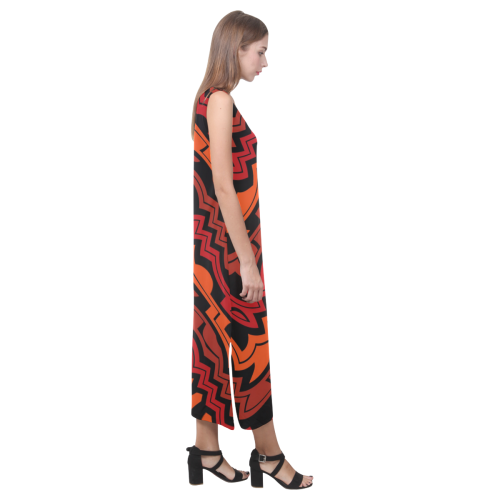Heat Wave Phaedra Sleeveless Open Fork Long Dress (Model D08)