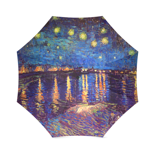 Van Gogh Starry Night Over Rhone Foldable Umbrella