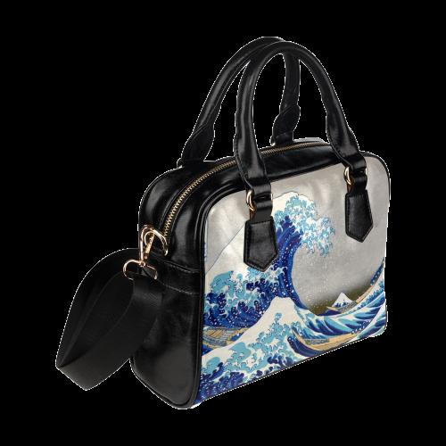 Great Wave Off Kanagawa Hokusai Shoulder Handbag (Model 1634)