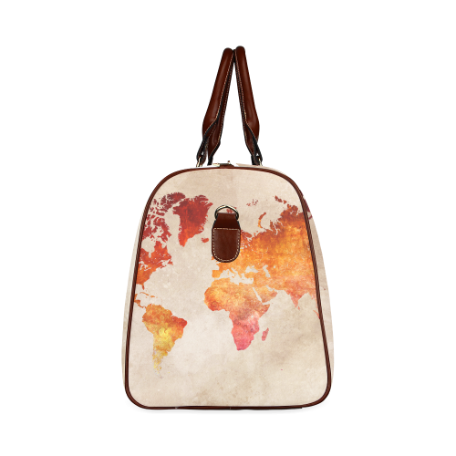 world map 33 Waterproof Travel Bag/Small (Model 1639)