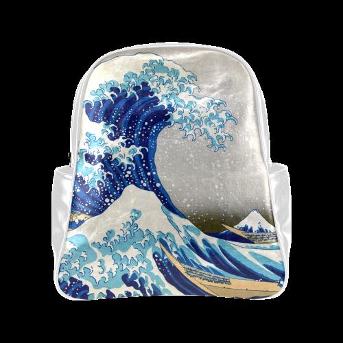 Great Wave Off Kanagawa Nature Art Multi-Pockets Backpack (Model 1636)