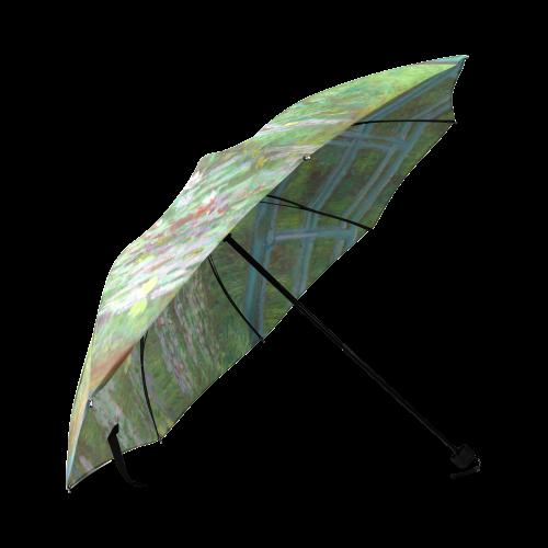 Monet Japanese Bridge Water Lily Pond Foldable Umbrella