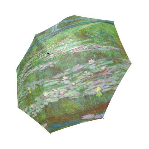 Monet Japanese Bridge Water Lily Pond Foldable Umbrella