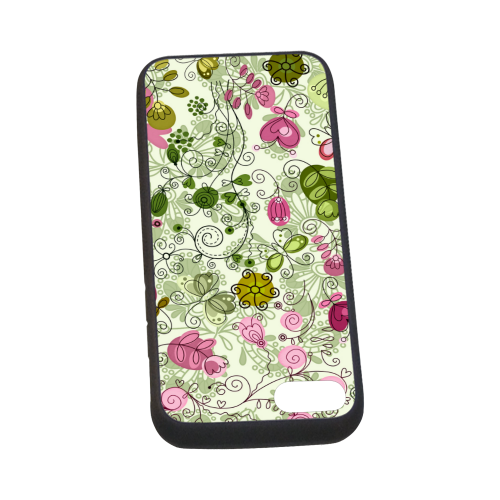 doodle flowers Rubber Case for iPhone 7 4.7""