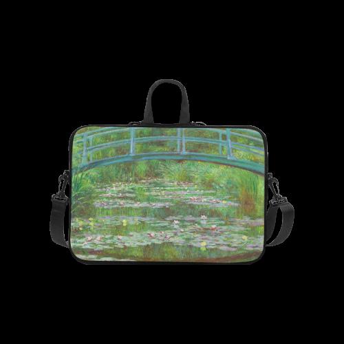 Monet Anese Bridge Water Lily Pond Laptop Handbags 10