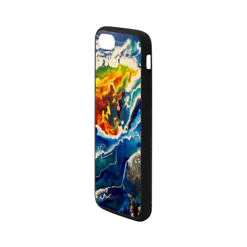 """Deep Sea Rainbow Rubber Case for iPhone 7 4.7"""""""