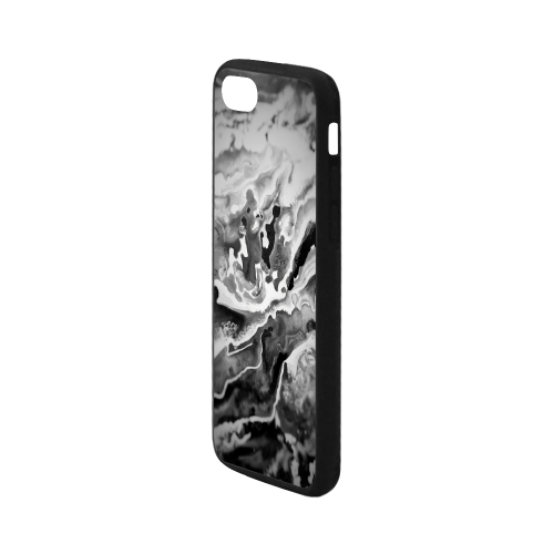 """Deep Sea Rainbow black focus Marble marbling Rubber Case for iPhone 7 4.7"""""""