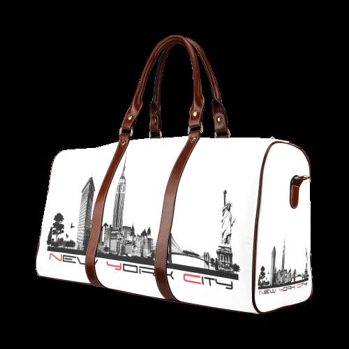 New York City skyline 6 Waterproof Travel Bag/Large (Model 1639)