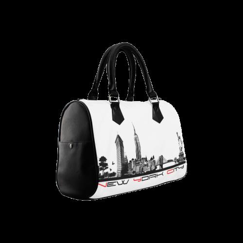 New York City skyline 6 Boston Handbag (Model 1621)