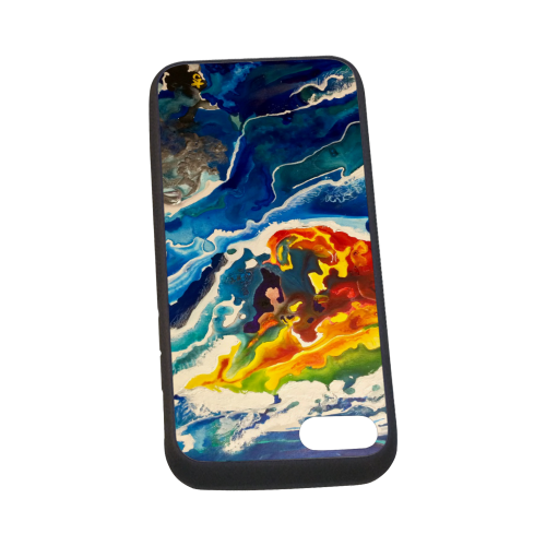 Deep Sea Rainbow Rubber Case for iPhone 7 4.7""