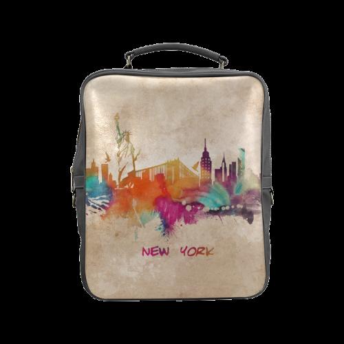 New York City skyline 1 Square Backpack (Model 1618)
