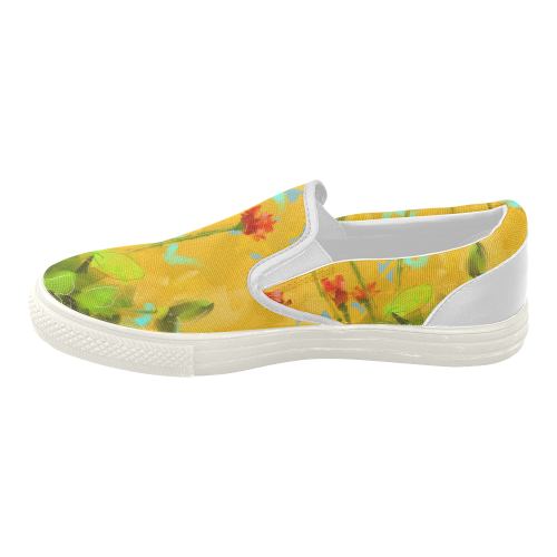 yellow there 2 s slip on canvas shoes model 019