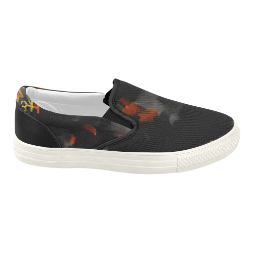 the in black s slip on canvas shoes model 019