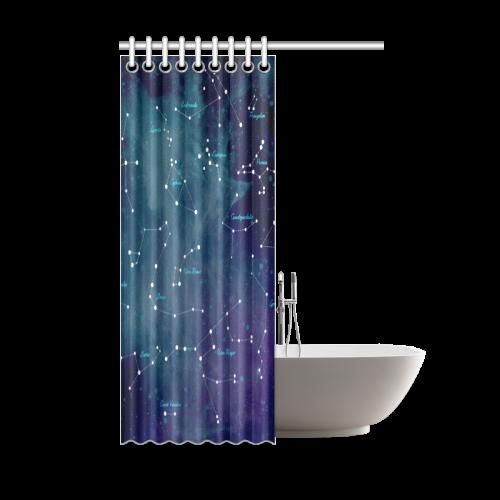 Constellations Shower Curtain 48x72