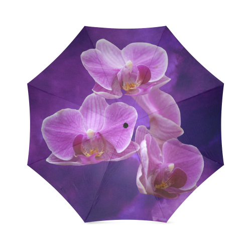 Purple Orchids Foldable Umbrella
