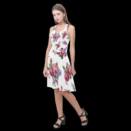 Vintage Floral Shabby Chic Atalanta Casual Sundress(Model D04)