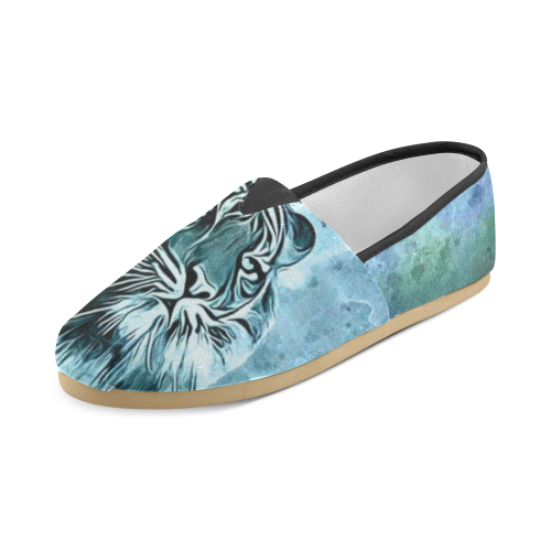 Watercolor Tiger Unisex Casual Shoes (Model 004)
