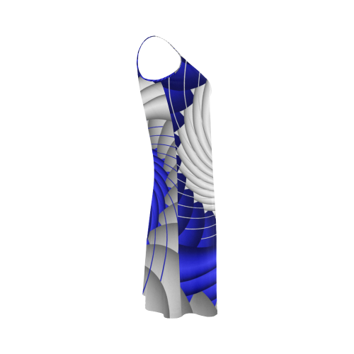 7d0d3bd24e338 ... Blue Silver Beautiful Abstract Wave Alcestis Slip Dress (Model D05) ...