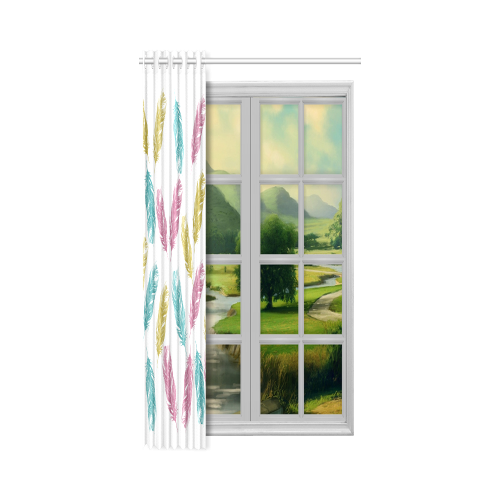 """feathers pattern New Window Curtain 50"""" x 96""""(One Piece)"""