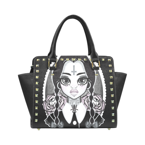 Wednesday STUDDED BAG Rivet Shoulder Handbag (Model 1645)