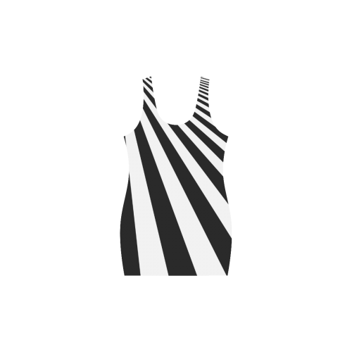 Black and White Stripes Medea Vest Dress (Model D06)