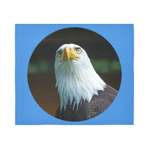 """American Bald Eagle Head 001 04 rd Cotton Linen Wall Tapestry 60""""x 51"""""""