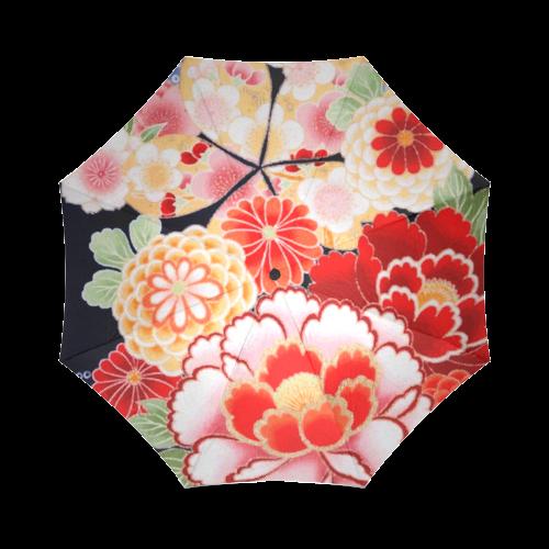 Beautiful Floral Japanese Kimono Pattern Foldable Umbrella