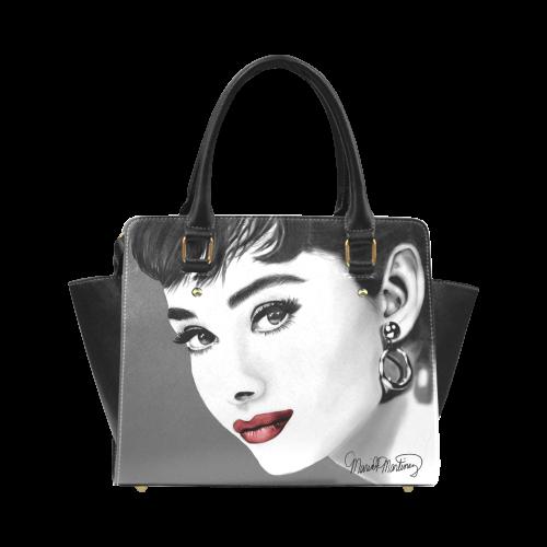 Audrey Hepburn Red Lips Classic Shoulder Handbag Model 1653