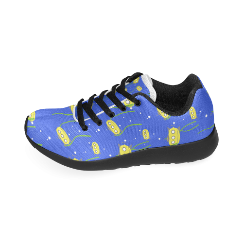 Yellow small submarine - cartoon and yellow Women's Running Shoes (Model  020)