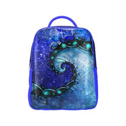 5e979a27eae Scorpio Spiral Pop Blue Backpack -- Nocturne of Scorpio Fractal Astrology  Popular Backpack (Model