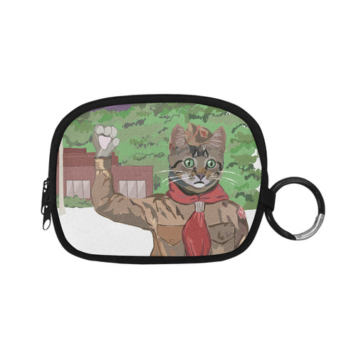 The Cat Scout Salute Coin Purse Coin Purse (Model 1605)