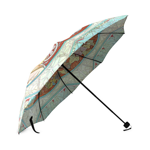 Alphonse Mucha Ivy Foldable Umbrella